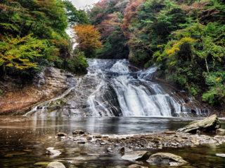 養老の滝でスローシャッター練習。