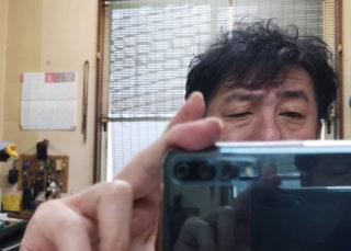 鏡の中にムロツ・・・。