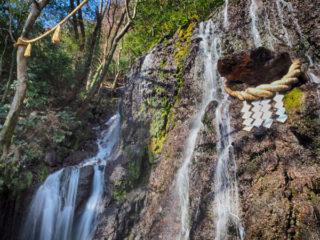 箱根の「玉簾神社」と「飛烟の滝・玉簾の滝」