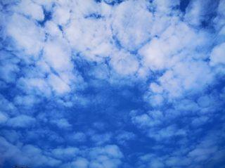「ひつじ雲」と「うろこ雲」の違いって・・そういう事なのね。