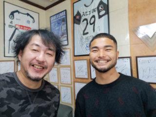 安東選手! 松本に行く前に髪切りに来てくれました。