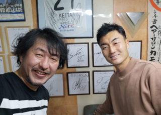 瀧澤選手! 山形に行く前に髪切りに来てくれました。