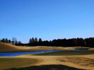 強風の中ゴルフ!