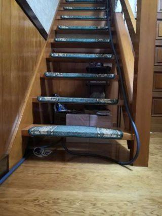 2階にホース